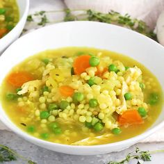 The BEST chicken soup you'll ever eat is the best homemade nourishing healthy soup when you're feeling under the weather. Packed with anti-inflammatory ingredients like ginger, turmeric, garlic. BEST SOUP EVER! Soupe The Best Chicken Soup You'll Ever Eat Best Chicken Soup Recipe, Recipe Pasta, Garlic Chicken Recipes, Good Food, Yummy Food, Tasty, Cooking Recipes, Healthy Recipes, Kitchen Recipes