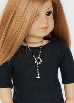 This listing is for one necklace, made to fit the American Girl dolls and other similar 18 inch dolls. This necklace is the perfect accessory