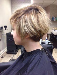 hair lib short blonde tapered layered cool