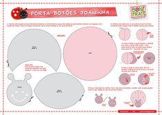 Porta-botões Joaninha (Molde e PAP) @ BoniFrati