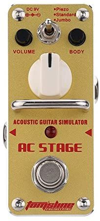 Ammoon Ac Stage Acoustic Guitar Simulator Mini Single Electric Guitar Effect Pedal With True Guitar Effects Guitar Effects Pedals Acoustic Guitar