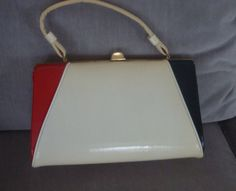 Vintage Red White and Blue 1960's purse by Midwestartifacts