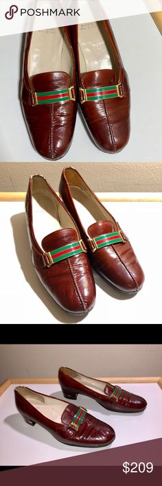 Brown Leather Women's Gucci Pumps Brown Leather Women's Gucci Pumps Gucci Shoes Platforms