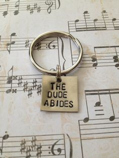 The Dude Abides  Big Lebowski Keychain by dalilicequeen on Etsy, $6.00