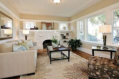 Craftsman Bungalow Living Room...love, love it! Totally my style