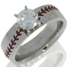 womans baseball engagement ring | Baseball Engagement Ring, Sports Wedding Rings - Titanium-Buzz.com