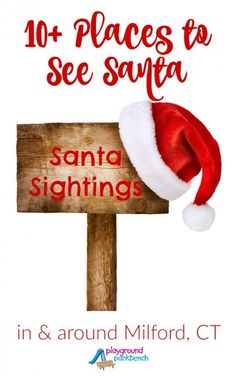 Don't miss your kids' annual visit with Santa.  Check out our complete list of places to see Santa and get your photo with the man in red.  Also includes special events, breakfasts, tree lightings and more in and around Milford, CT