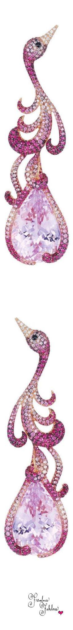 Frivolous Fabulous - Chopard Pink Sapphire Flamingo Earrings