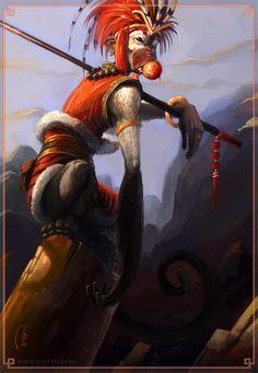Sun Wukong - The monkey king by ~Vaejoun on deviantART
