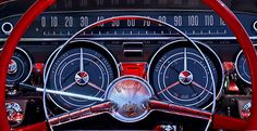 1959 Buick Lesabre Steering Wheel Photograph by Jill Reger
