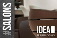 IDEA Friseursalons Referenzen.  Salons, Einrichtungen, Möbel, wie Friseurstüehle, Waschanlagen, Barber Chairs, Rezeptionen, Verkaufsregale, Stores, etc.