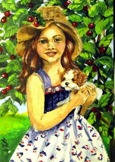 #aceo #girls #art #dog #puppy #amazing #smile #old #fashion #style #flowers #hair #awesome #nice #eyes #loveit #colorful #beauty #sweat #face #tree #green #new #2millionartists