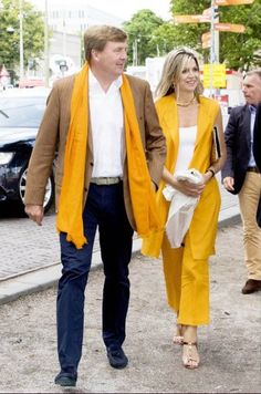 Queen Maxima and King Willem-Alexander at the Beach VolleyBall Finals