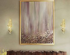 Large Abstract Oil Painting Wall Art Gold Painting Wall Decor Modern Art Original Painting with Gold leaf Abstract Painting by Julia Kotenko