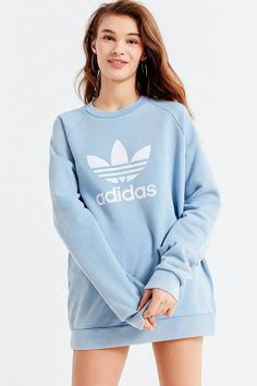 Mom Shirts Discover adidas Originals Adicolor Trefoil Warm-Up Sweatshirt Slide View: adidas Originals Adicolor Trefoil Warm-Up Sweatshirt Adidas Dress, Adidas Outfit, Adidas Hoodie, Adidas Zx, Adidas Pants, Adidas Logo, Sweatshirt Outfit, Pants Outfit, Lazy Day Outfits