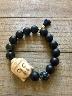 Onyx Buddha Bracelet by ElidaCreations on Etsy