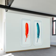 Feathers on Ice Wall Mural