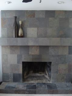 Slate Fireplace (a DIY Project), My Husband Saw This In A Magazine And