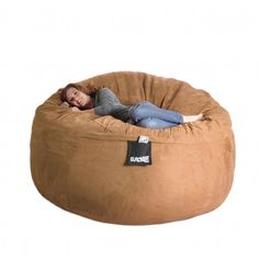 Earth Brown 6-foot Microfiber and Foam Bean Bag - Overstock™ Shopping - Big Discounts on Bean & Lounge Bags