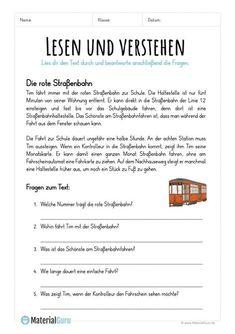 √ 6 Reading Comprehension for Kindergarten Reading Comprehension Worksheets, Math Worksheets, Coloring Worksheets, German Resources, German Grammar, German Language Learning, Learn German, Word Problems, Teaching Kids