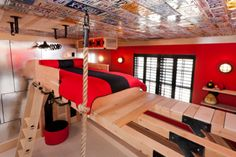 basketball Loft Bed | Puertas abiertas: una habitación juvenil para un deportista