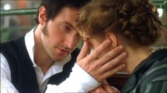 """Richard Armitage and Daniela Denby-Ashe as John Thornton and Margaret Hale in the beautiful film """"North and South."""" Book written by Elizabeth Gaskell. Richard Armitage, Jane Austen, Elizabeth Gaskell, Colin Firth, Best Period Dramas, Period Movies, North And South, Movie Kisses, John Thornton"""