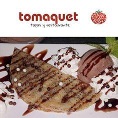 Reposting @tomaquetapas: ¿Habéis visto ya nuestra nueva carta de #postres? Podrás encontrar tartas #caseras como nuestra tarta de queso, de tres chocolates. También crepes con #helado, #nocilla y #chocolate como el que te presentamos hoy #fuengirola #tomaquet #restaurante #dulces #tartas #gofres #crepes #tartascaseras