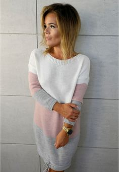 (45) Одноклассники Knit Fashion, Hijab Fashion, Womens Fashion, Cocoon Dress, Lace Sleeves, Mom Style, Short, Knit Dress, Stylish Outfits