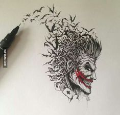 Joker art amazing tattoo idea