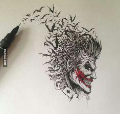Joker art amazing tattoo idea