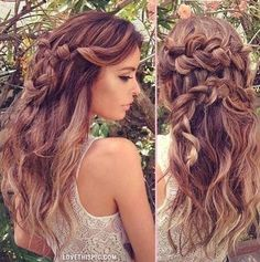 pretty hairstyle girly hair pretty brunette braid