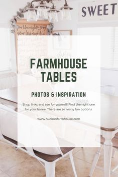 No rustic home can be complete without farmhouse tables in their dining room or kitchen. There�s no better way to have a family dinner or friends over to eat than to gather around an enormous table to share a feast. The farmhouse trend is strong and makes