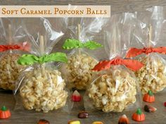 Caramel Popcorn Balls - the kind that stay soft and gooey!  Easy to make {yeah}.
