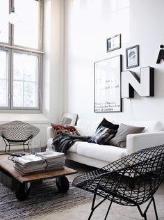 clean, simple living room