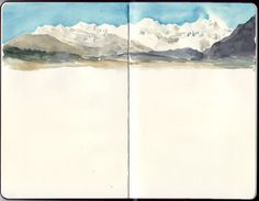 Oser laisser des blancs pour donner une impression de vide, de calme, etc. - Travel Journal-Art Diary-Eclectic Design| Serafini Amelia| Watercolor
