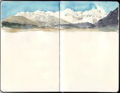 Travel Journal-Art Diary-Eclectic Design| Serafini Amelia| Watercolor