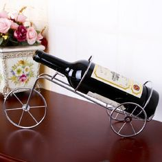 Wedding Creative Iron Bicycle Wine Rack Holder Vinho Wine Bottle Shelf Rejilla Para Copas Kitchen Craft Accessories Decoration