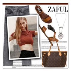 """Zaful.com 9"" by aida-nurkovic ❤ liked on Polyvore featuring Steve Madden, Louis Vuitton and zaful"