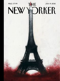 """Ana Juan's """"Solidarité,"""" the cover of the January 19, 2015, issue of the magazine."""