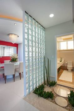Best 35 Home Decor Ideas - Lovb House Front Design, Modern House Design, Modern Interior Design, Home Living Room, Living Room Designs, Glass Blocks Wall, Property Design, Relaxation Room, Feng Shui