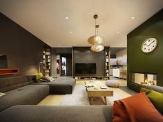 ZARYSY - Pracownia Architektury, Wnętrz i Designu Gray Matters, Conference Room, Couch, Interior, Table, Furniture, Design, Kitchens, Home Decor
