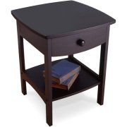Winsome Claire Accent Table Black Finish 20218 - The Home Depot Nebraska Furniture Mart, Kids Bedroom Furniture, Bedroom Decor, Black Nightstand, Winsome Wood, Oriental Furniture, Night Table, Interior Exterior, Open Shelving