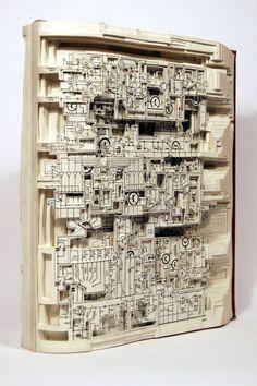 Book carving. Brian Dettmer.