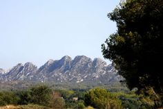 View of the Alpilles from Saint-Remy de Provence