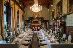 We transformed this stunning and authentic dining room at Ashford Castle into a luxurious and elegant dining experience. Guests could enjoy the romantic ambience of the dinner setting while taking in the spectacular views of Lough Corrib and Ashford's beautiful surrounding gardens.  #oliviabuckleyinternational #eventdesigners #eventplanners #weddingplanner #corporatevents #eventmanagement #privatepartyplanner #dinnereception #diningexperience #weddingdinner #tabledecor #tabledesign… Ashford Castle, Destination Wedding, Wedding Destinations, Castles In Ireland, Reception Design, Wedding Decorations, Table Decorations, Elegant Dining, Wedding Dinner