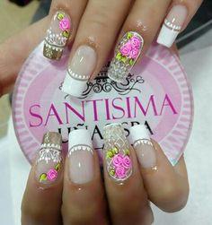 😍😍😍😍😍 Birthday Nails, Nail Decorations, Spring Nails, Manicure And Pedicure, Nail Art Designs, Nail Polish, Lily, Divas, Projects
