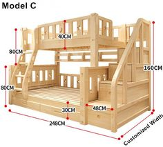 Bunk Beds With Stairs, Kids Bunk Beds, Cool Bunk Beds, Bunk Bed Ideas For Small Rooms, Pallet Bunk Beds, Full Size Bunk Beds, Safe Bunk Beds, Childrens Bunk Beds, Bunk Bed Rooms