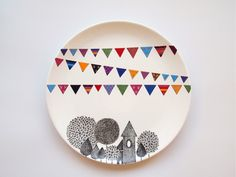 роспись тарелок повышенной сложности
