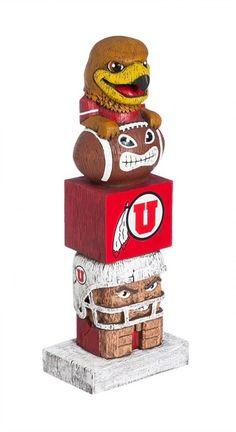 Utah Utes Tiki Totem