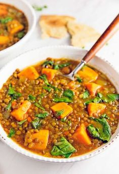 Moroccan Sweet Potato Lentil Stew vegan vegetarian whole food plant based gluten free recipe wfpb healthy oil free no refined sugar no oil refined sugar free dinner side side dish dairy free dinner party entertaining Indian Food Recipes, Whole Food Recipes, Soup Recipes, Vegan Recipes, Cooking Recipes, Ethnic Recipes, Moroccan Recipes, Vegetarian Recipes Delicious, Vegetarian Recipes